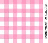 Seamless Gingham  Pastel Pink...