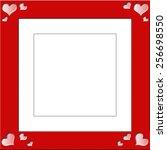 love heart patterns photograph... | Shutterstock . vector #256698550