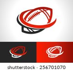 swoosh football logo icon | Shutterstock .eps vector #256701070
