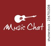 music chat concept vector... | Shutterstock .eps vector #256701208