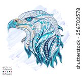 Patterned Head Of Eagle On The...