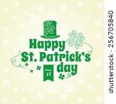 saint patrick's day lettering... | Shutterstock .eps vector #256705840