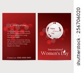 8 march women day flyer ... | Shutterstock .eps vector #256706020