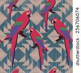 ethnic style seamless pattern... | Shutterstock .eps vector #256706074