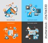 real estate design concept set... | Shutterstock .eps vector #256706530
