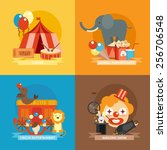 circus design concept set with... | Shutterstock .eps vector #256706548