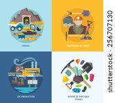 mining design concept set with... | Shutterstock .eps vector #256707130