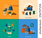garbage design concept set with ...   Shutterstock .eps vector #256707154
