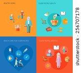 senior lifestyle design concept ... | Shutterstock .eps vector #256707178