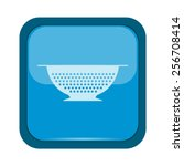 colander icon on a blue... | Shutterstock .eps vector #256708414