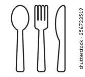 Dining Silverware Line Art Ico...