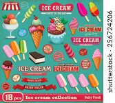 vintage ice cream poster design ... | Shutterstock .eps vector #256724206