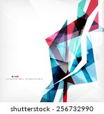 angular geometric color shapes  ... | Shutterstock .eps vector #256732990