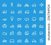 transport icons  simple and... | Shutterstock .eps vector #256744924
