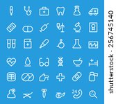 medical and health care icons ... | Shutterstock .eps vector #256745140