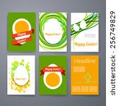 templates. set of flyer ... | Shutterstock .eps vector #256749829