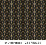 art deco seamless vintage... | Shutterstock .eps vector #256750189