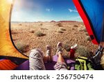 traveling. tourism. tourist... | Shutterstock . vector #256750474