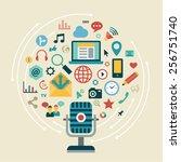 flat design modern vector... | Shutterstock .eps vector #256751740