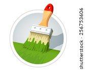 brush for painting. vector... | Shutterstock .eps vector #256753606