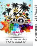 disco night club flyer layout... | Shutterstock .eps vector #256761139