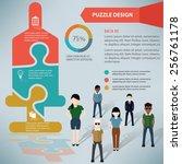 saline puzzle info graphic... | Shutterstock .eps vector #256761178