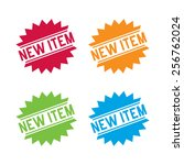 colorful set of new items labels | Shutterstock .eps vector #256762024