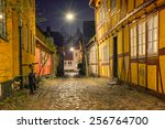 old and beautiful streets of... | Shutterstock . vector #256764700