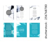 set of abstract flyer geometric ... | Shutterstock .eps vector #256768780