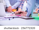 young business people working... | Shutterstock . vector #256772320