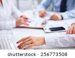 group of business people... | Shutterstock . vector #256773508