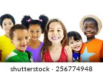 children kids diversity... | Shutterstock . vector #256774948