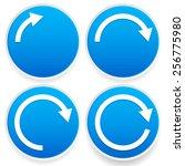 circular arrows  1 4  1 2  3 4... | Shutterstock .eps vector #256775980