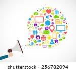loudspeaker social media icon... | Shutterstock .eps vector #256782094