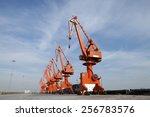 port gantry crane  used for... | Shutterstock . vector #256783576