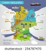 vector illustration of germany... | Shutterstock .eps vector #256787470