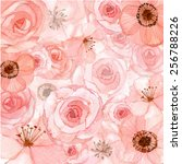 flowers wallpaper pattern... | Shutterstock .eps vector #256788226