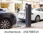 power supply for electric car...   Shutterstock . vector #256788514