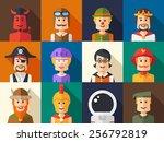 set of isolated flat design... | Shutterstock . vector #256792819