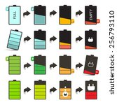 battery life vector icons set...