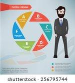 Постер, плакат: Shutter puzzle info graphic