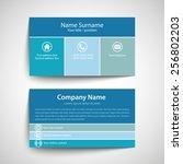 modern simple business card... | Shutterstock .eps vector #256802203