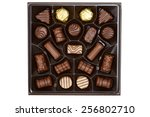 Top View Assorted Box Chocolates