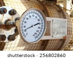 pressure gauge for measuring... | Shutterstock . vector #256802860