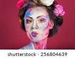 the creative  bright  color... | Shutterstock . vector #256804639