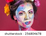 the creative  bright  color... | Shutterstock . vector #256804678