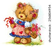 Teddy Bear And Flower...