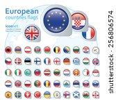 set of european flags  vector...   Shutterstock .eps vector #256806574
