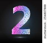 faceted 3d diamond font  ... | Shutterstock .eps vector #256807888
