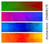 four vector polygonal... | Shutterstock .eps vector #256808170